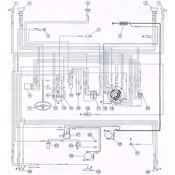 Schema Elettrico Yaris 2003 : Schema elettrico n fiat service vendita
